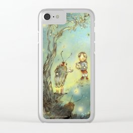Firefly Forest Clear iPhone Case