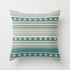 Grey and Blue Throw Pillow