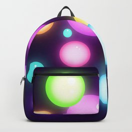 Magical Colorful Glowy Orbs Backpack