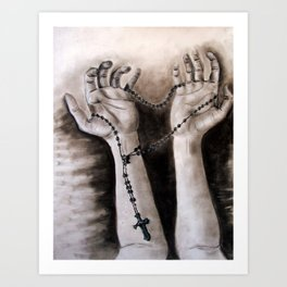 hands of creation Art Print
