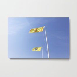 Scottish and Harbour flag Ullapool Metal Print