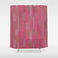 metropolis Shower Curtains featuring Metropolis by Kimsa