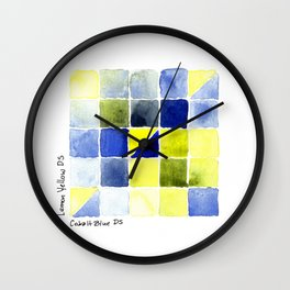 Color Chart - Lemon Yellow (DS) and Cobalt Blue (DS) Wall Clock