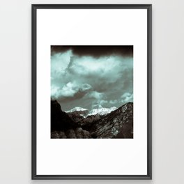 Provo Mountains Framed Art Print