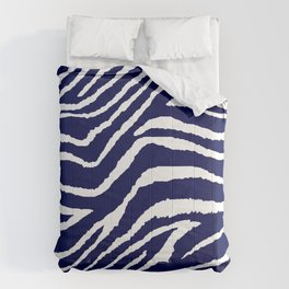 ZEBRA ANIMAL PRINT BLUE AND WHITE 2019 Comforters