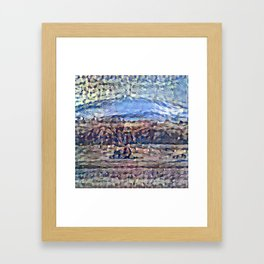 Recolored Mount Brocken Framed Art Print