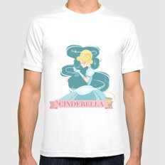 Cinderella Mens Fitted Tee MEDIUM White