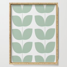 Mid Century Modern Leaves 02 #society6 #buyart Serving Tray