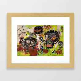 Kaos Heads Framed Art Print
