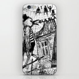 bla,bla,bla iPhone Skin