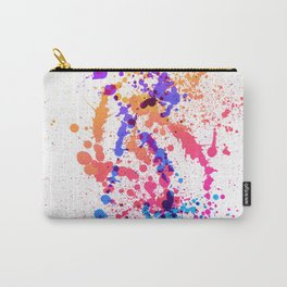 Energetic Expressive Multicolor Paint Splatter Carry-All Pouch