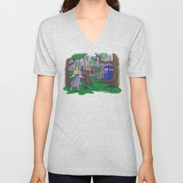 Visions are Seldom all They Seem Unisex V-Neck