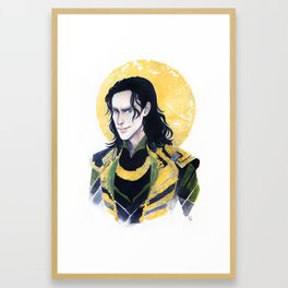 Loki of Asgard Framed Art Print