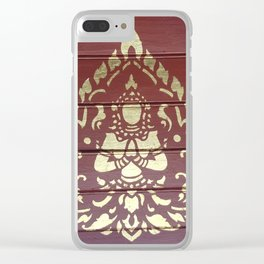 Golden Buddha Illustration Clear iPhone Case