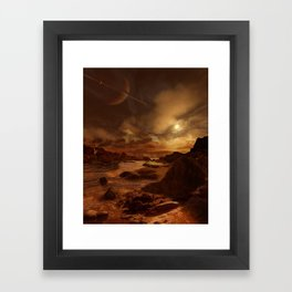 After the Methane Storm on Titan Framed Art Print