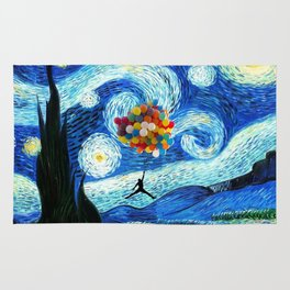 starry night flying jordan Rug