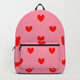 Red Heart Pattern Backpack