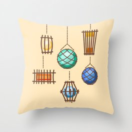 Tiki Lights Throw Pillow