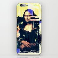 mona lisa iPhone & iPod Skins featuring mona lisa by manish mansinh
