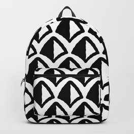 Classic Hollywood Regency Pyramid Pattern 232 Black and White Backpack