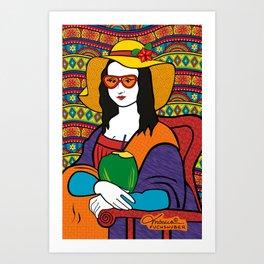 Monalisa Tropical Art Print