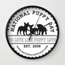 National Puppy Day Wall Clock
