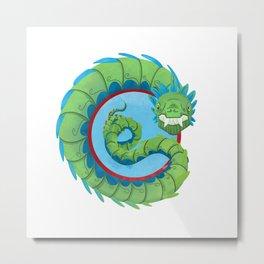 Quetzalcoatl, the Flying Dragon Serpent of the Aztec Metal Print