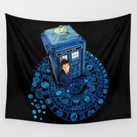 fandom Wall Tapestries featuring Doctor who at Arch of time Zone iPhone 4 4s 5 5c 6, pillow case, mugs and tshirt by Three Second