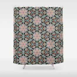 Forest Green Mandala Kaleidoscope Pattern Shower Curtain