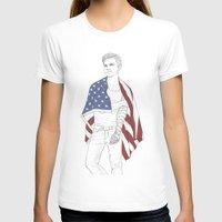 bucky T-shirts featuring Bucky Barnes by E Cairns Art