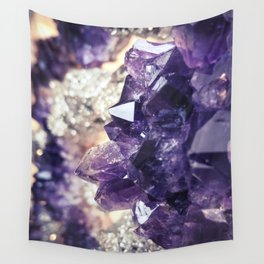 Crystal gemstone - ultra violet Wall Tapestry