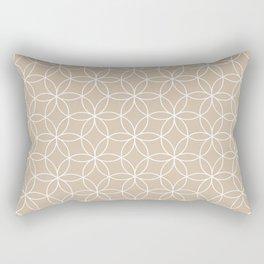 Bege Lotus Rectangular Pillow
