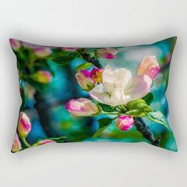 Crabapple flower and buds Rectangular Pillow