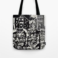 hip hop Tote Bags featuring Hip Hop by J. Unger Photography