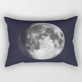 Waxing Gibbous Moon on Navy Rectangular Pillow