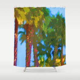 CRAZY PALMS Shower Curtain