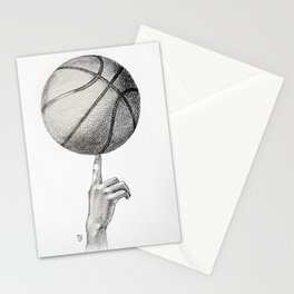 Basketball spin Stationery Cards