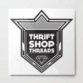 Thrift Shop Threads Shield Metal Print