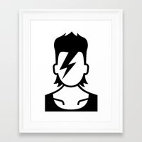 david bowie Framed Art Prints featuring Bowie  by triangle.cross