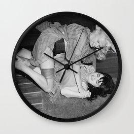 RETRO CATFIGHT Wall Clock