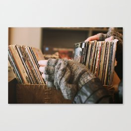 Vinyl Dreams Canvas Print
