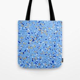 Bedtime Stories BLUE / Cartoon pencil pattern Tote Bag
