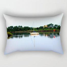 Sampit River Sailboat Rectangular Pillow