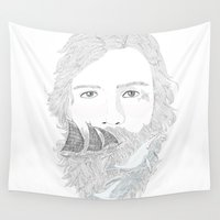 sailor Wall Tapestries featuring sailor by küçükbakkal