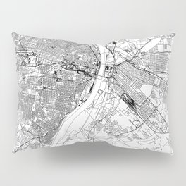 St. Louis White Map Pillow Sham