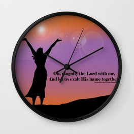 Worship Wall Clock