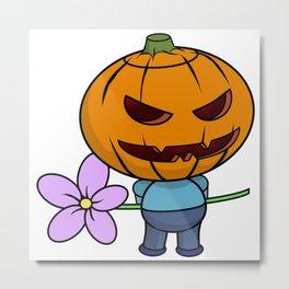 Halloween Boy Metal Print