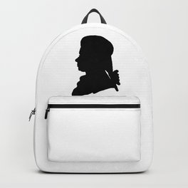 Wolfgang Amadeus Mozart (1756 -1791) silhouette, engraved by Hieronymous Löschenkohl, 1785 Backpack