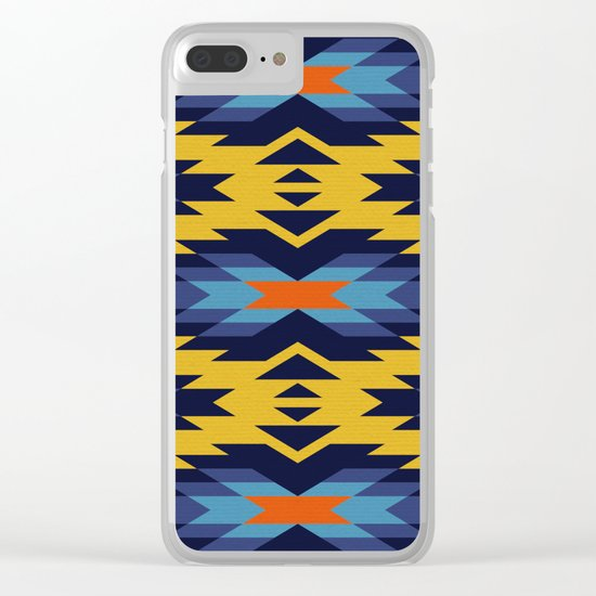 Tribal pattern - mustard yellow Clear iPhone Case
