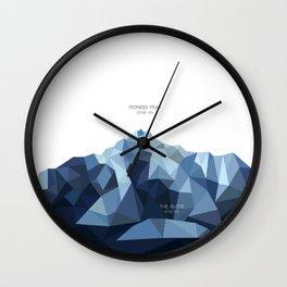 Pioneer Peak + The Butte Wall Clock